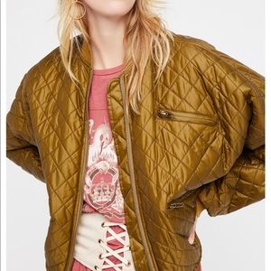 Free People Easy Quilted Bomber NWOT